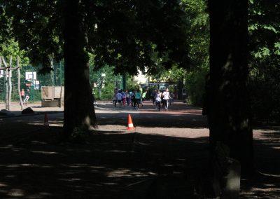 die Laufstrecke auf dem Schulhof